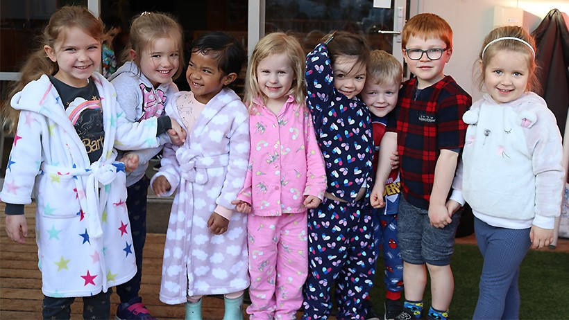 Children at Pascals St Johns in PJs