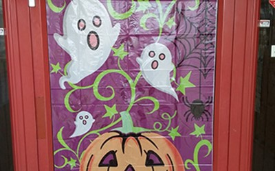 Poster celebrating Halloween at Lollipops Papamoa childcare